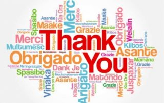 Word Cloud of Thank you in many different langauges