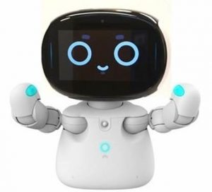 Image of Kebbi. A classroom robot with a very cute digital face.