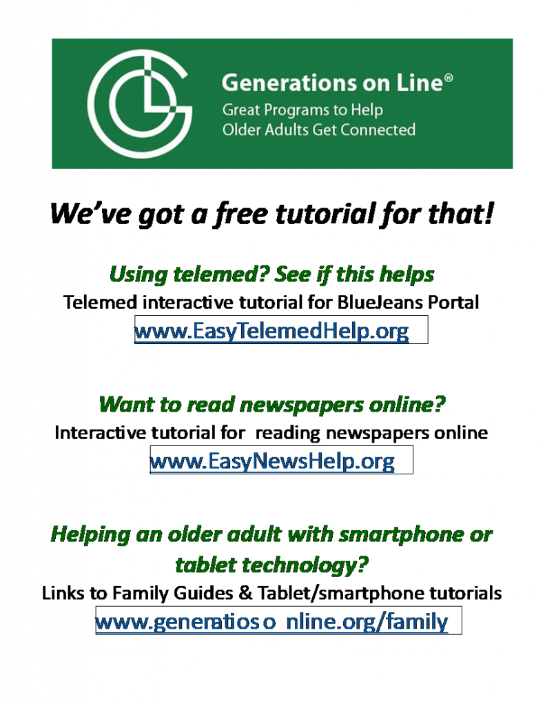 Generations On Line Flyer